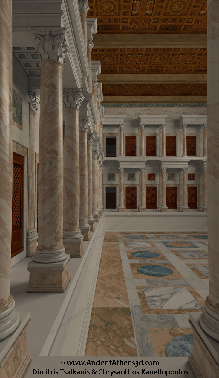 Hadrian S Library Ancient Athens 3d
